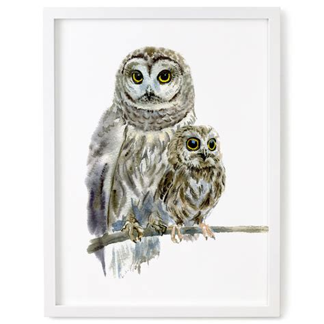 owl decor owl owl print woodland decor nursery art nursery decor