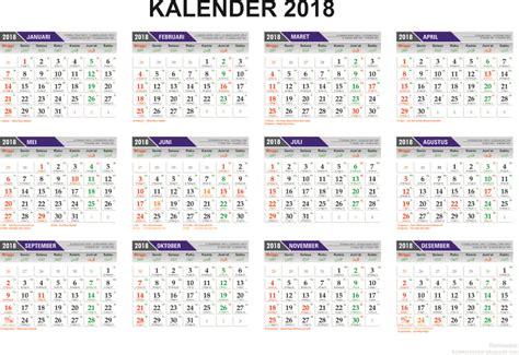 Kalender 2018 Indonesia Jpg Template Kalender 2017