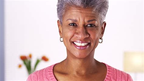 fifty year old african america women mature black woman laughing hd stock video clip
