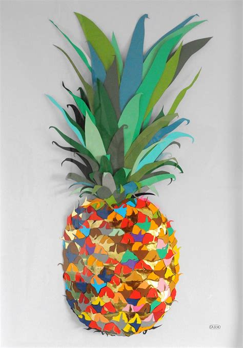 Paper Pineapple Craft - colour paper pineapple andy macgregor inspiration