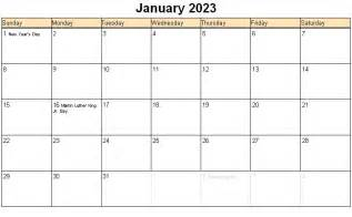 January 2023 printable calendar 171 printable hub