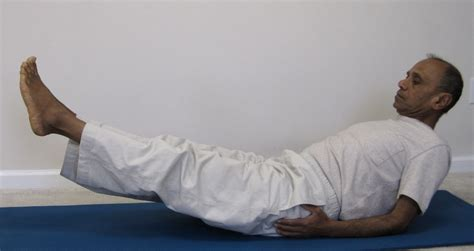 supported boat pose strengthen the core energize the back with boat pose
