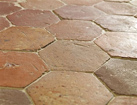 Handmade Floor Tiles - terracotta hexagon handmade clay floor tiles