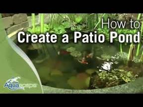 how to create a patio pond by aquascape yourepeat