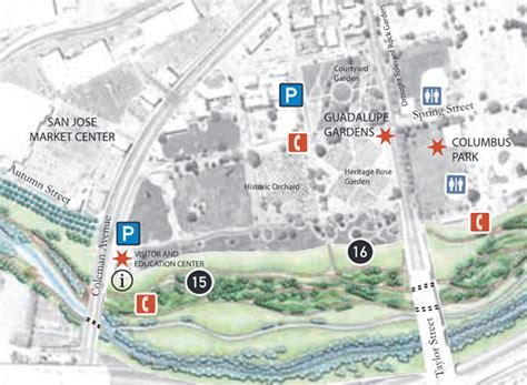 park san jose map guadalupegardensmap