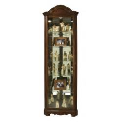 Corner Curio Cabinet Shelves Traditional Cherry Wood Small Corner Curio Cabinet 680495