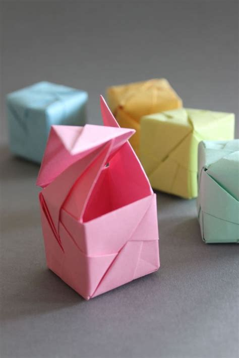 Origami With Lined Paper - best 25 origami cube ideas on origami with