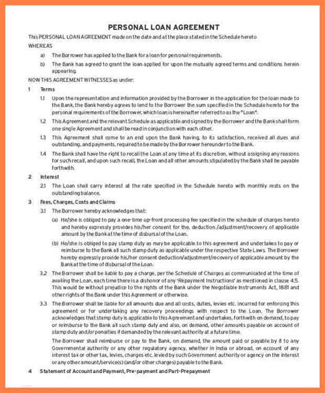 intercompany loan agreement template 28 images 6 sle
