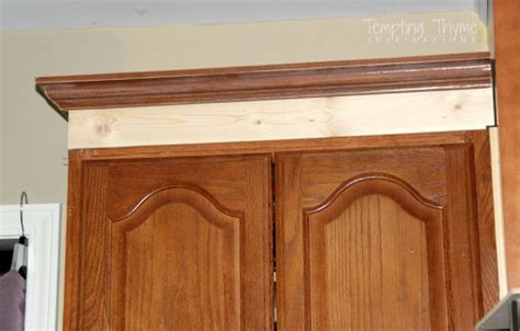 adding crown molding to cabinets manicinthecity