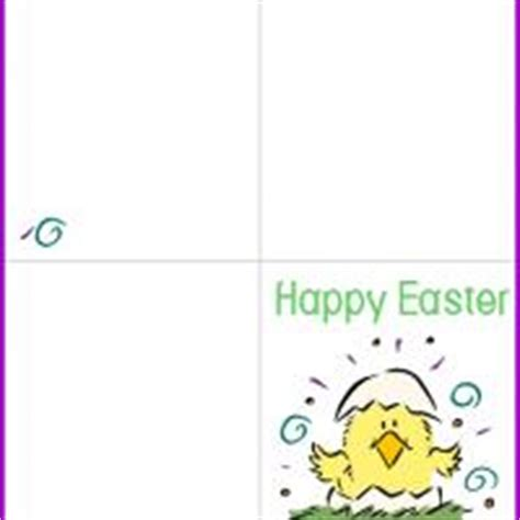 free printable quarter fold easter cards spring chick easter card