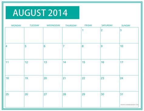 printable calendar mom fresh designs august 2014 calendar by shining mom