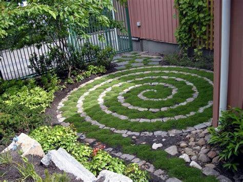 Backyard Ideas Instead Of Grass Spiral Path In The Backyard With Gravel Instead Of Grass