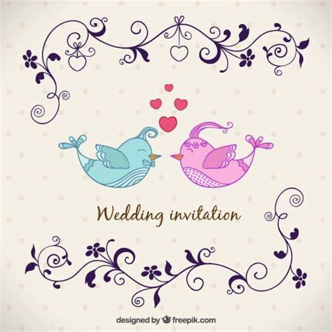 Hochzeitseinladung Vogel by Hochzeitseinladung Mit V 246 Geln Der Kostenlosen