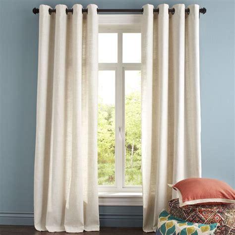 natural woven curtains blythe curtain natural woven linen curtain panels 40