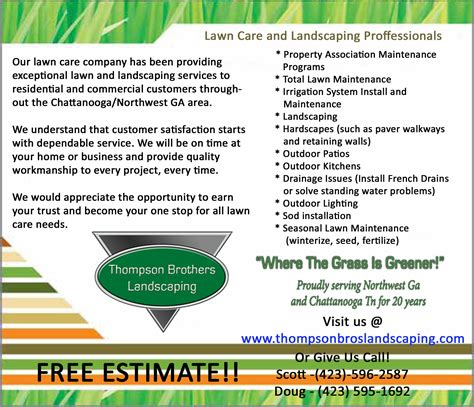 landscaping flyers templates lawn care flyers exles studio design gallery