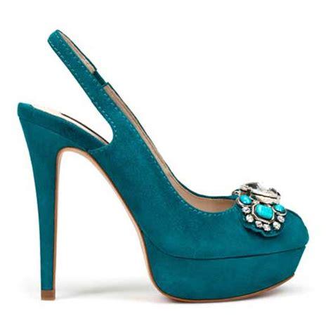 teal shoes teal suede jewelled slingbacks from zara gt shoeperwoman