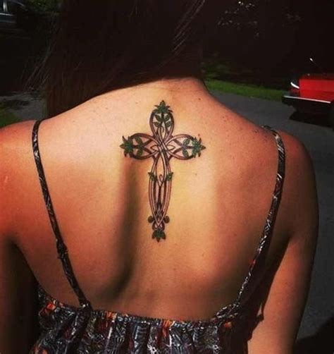 cross tattoos for women on back 100 tastefully provocative back tattoos for