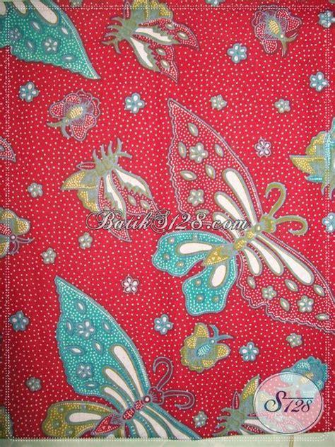 Aneka Sprei Motif Kupu motif motif batik kupu warna merah dan trendy