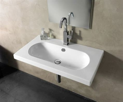 built in bathroom sink sleek contemporary rectangular wall mounted vessel or