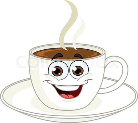 cartoon coffee mug coffee cup cartoon stock vector colourbox