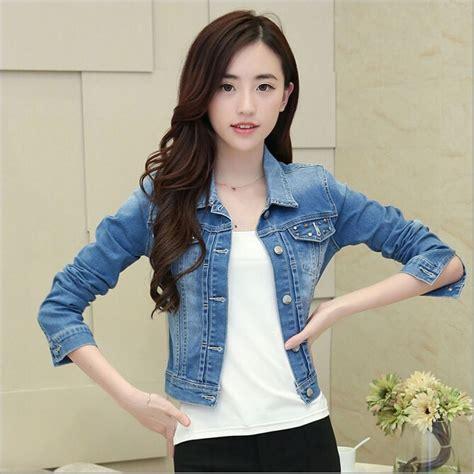 Jaket Wash Koreanstyle wa9037 denim jacket rivets korean fashion denim jacket coat buy fashion coats
