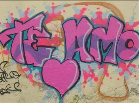 imagenes k digan i love you graffitis de te amo chidos imagui