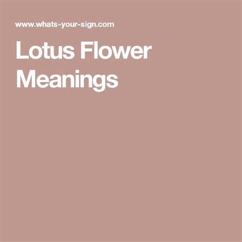 17 best ideas about lotus flower meanings on