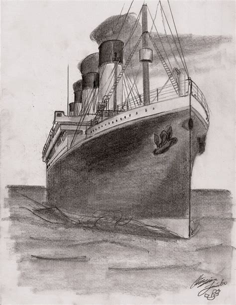titanic boat drawing sail on titanic by btomimatsu on deviantart