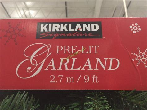 kirkland signature 9 ft christmas tree kirkland signature 9 pre lit led garland costcochaser