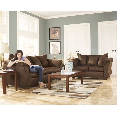 darcy sofa and loveseat brown furniture darcy cafe sofa loveseat rent to