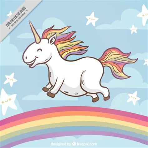 fondo de unicornio feliz brillante descargar vectores gratis fondo de unicornio feliz en un arcoiris descargar