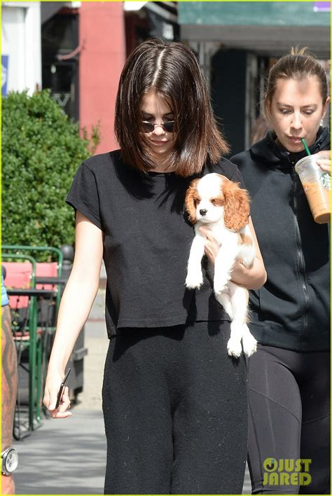 selena gomez puppy selena gomez steps out with new puppy charles in nyc photo 3960805 selena