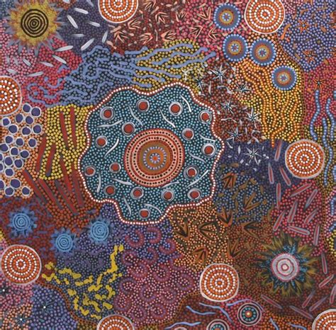 artists pattern of dots behind the dots of aboriginal art