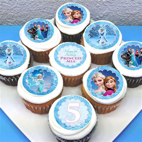 frozen personalised edible cupcake toppers 2 quot pre cut deezee designs madeit au