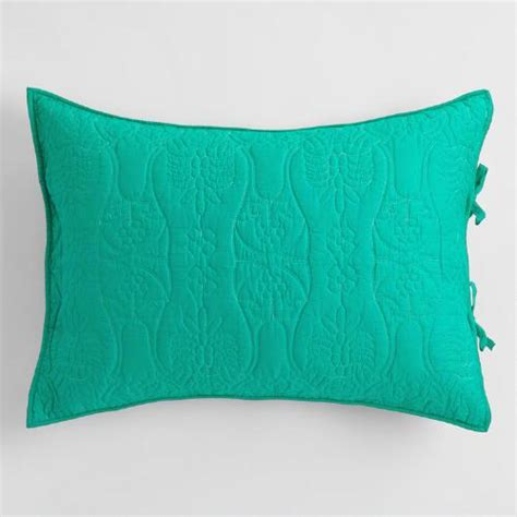 teal and wave reversible pillow shams set of