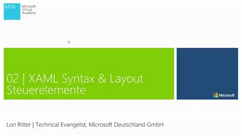 xaml layout basics 02 xaml basics und layout steuerelemente grundlagen
