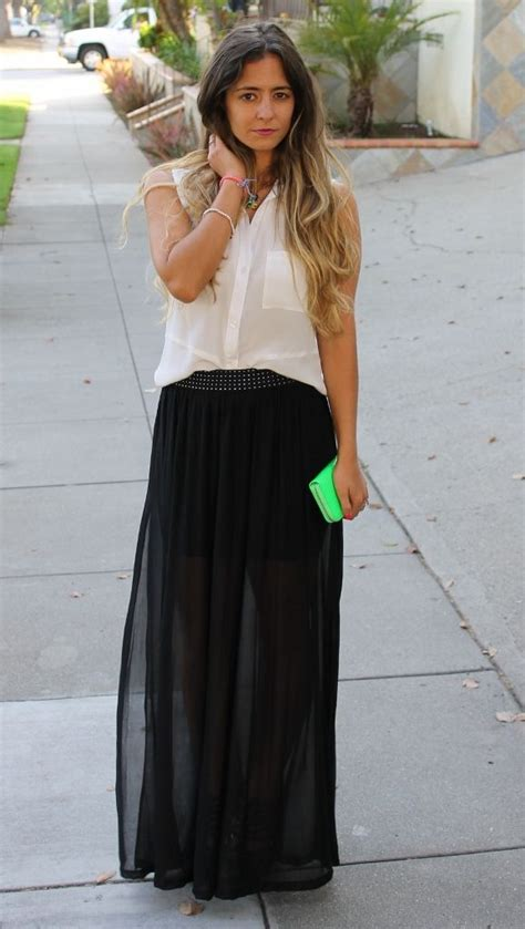 black see through maxi skirt ways to wear your