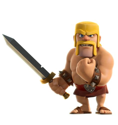 Coc Barbarian3 clash of clans characters barbarian www pixshark