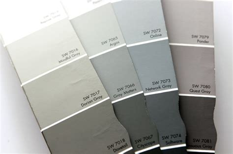 gray paint swatches choosing gray paint colors gray house studio