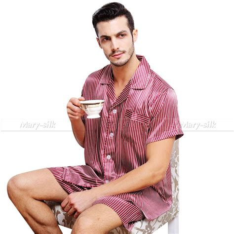 Sanbonnet Shortpants Pajamas mens silk satin pajamas pajama pyjamas set sleepwear set loungewear m l xl 2xl 3xl sleeves