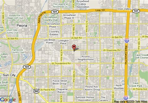 map of glendale arizona map of thunderbird executive inn conference center glendale