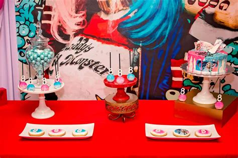 harley quinn themed birthday party harley quinn birthday party ideas photo 1 of 21 catch