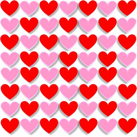 heart pattern png free illustration hearts love valentine red pink