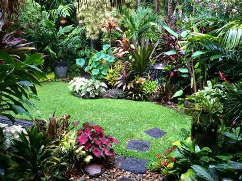 Jungle Backyard by Moon To Moon Small Jungle Style Gardens