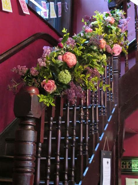 banisters flowers banister decoration wedding ideas pinterest