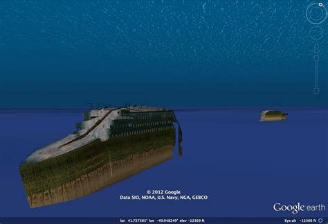 take a 3d tour of titanic with earth