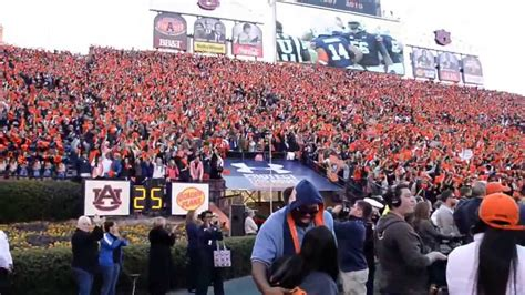 auburn student section auburn s 1st td in iron bowl 2013 barkley fairley and