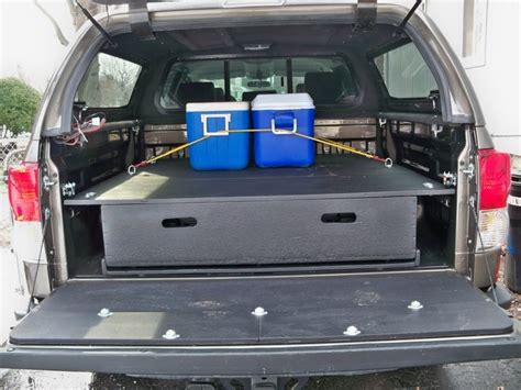 truck bed organizer diy pictures diy bed storage system for my truck draw