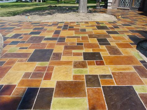 faux painting concrete patio patios design backyards renovation outdoor living