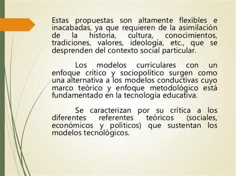 Modelo Curricular Socio Critico Modelos Curriculares